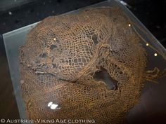 Medieval Hats, Net Making, Viking Reenactment, Viking Culture, Hair Nets, Iron Age, Headpieces, Archaeology, Vikings
