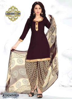 Search results for: 'affluent brown coloured crepe unstitched patiala salwar suit' Patiala Suit Designs, Patiala Salwar Suits, Churidar, Punjabi Suits, Collar Kurti Design, Kurta Neck Design, Indian Bridal Fashion, Indian Fashion Dresses, Stylish Suit