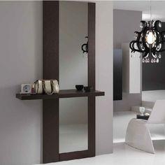 Зеркало с полкой в прихожую: настенное, для коридора, фото