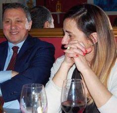 Vincenzo Folino con il direttore del Quotidiano, Lucia Serino