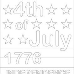 Printable 4th of July Coloring Pages {Coloring Pages}