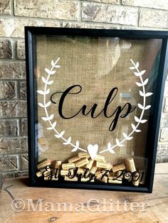 Rustic Custom Wine Cork Holder- Wedding gift can be used as a alternative guest book. This beautiful extra large 16x20 custom made cork holder is the perfect statement piece for your home. It is 2 1/2 inches deep and can sit on a shelf or flat surface, or can be hung on the wall. There is a hole drilled in the top to allow easy collection of your special corks(holds 280-300). Your last name is positioned across the center flanked by 2 beautiful branches. The year of marriage (Established...