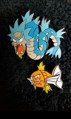 Gone Fishin set Rickados & Mortikarp LE100 rick n morty/pokemon inspired mashup from artist Ghost_Bat_