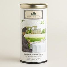 One of my favorite discoveries at WorldMarket.com: The Republic of Tea Downton Abbey Estate Blend Tea Tin