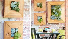 build it or buy it: succulent wall planters. Build It! You'll need a miter saw, drill and bit set, and screwdriver. Get the full how-to via @lowes