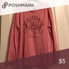 Long Sleeve Hooded Shirt Cute l/s hooded shirt 60% cotton/40% polyester, peach colored Sonoma Tops Tees - Long Sleeve