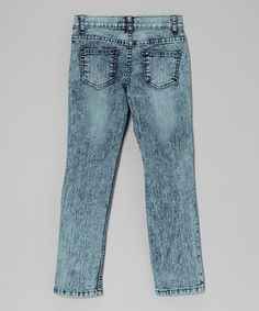 ae7e77b3390 Love this Acid Wash Distressed Skinny Jeans - Girls by Miss Jeans Premium  on  zulily