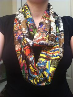 Custom Request Marvel Comics infinity scarf por kimfinityscarves