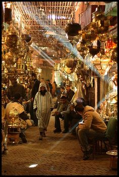 Marrakech, Morocco - you have to visit this city and its souks because they are amazing. You will want to buy everything - maybe even a Riad for yourself! x