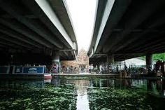 Folly for a Flyover, a London are theatre space created from the unused space under an overpass bridge. London Architecture, Contemporary Architecture, Interior Architecture, Under Bridge, Public Space Design, Still Frame, Urban Design, Pavilion, Landscape