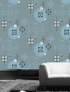 This design is so wild, fun, and modern! #wallpaper