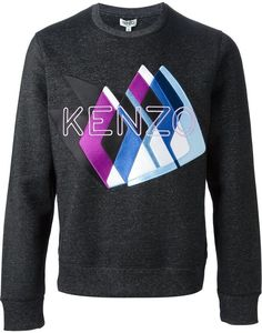 'Kenzo Peaks' sweater, Grey cotton blend 'Kenzo Peaks' sweater from Kenzo featuring a ribbed crew neck, long sleeves and a ribbed hem and cuffs. Mens Shawl Collar Cardigan, Mens Cable Knit Sweater, Cashmere Sweater Men, Mens Turtleneck, Grey Sweater, Pant Shirt, Sweater Design, Kenzo, Sweatshirts