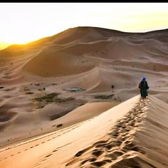 Sahara desert...Morocco. (We complain about driving a long way to pick someone up?) We are SO utterly spoiled rotten.