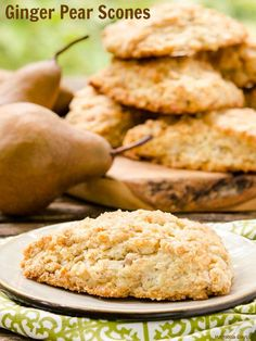 Ginger Pear Scones a