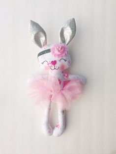 Bunny doll  fabric doll  plush bunny  first easter  rabbit
