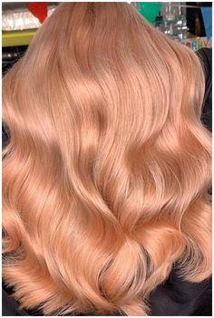 Pastel Pink Hair, Hair Color Pink, Hair Color For Black Hair, Peach Hair Colors, Light Hair Colors, Peachy Pink Hair, Peach Hair Dye, Blonde Color, Strawberry Blonde Hair Dye