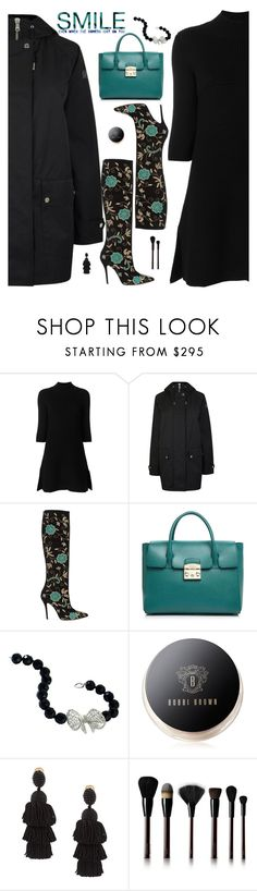 """""""Smile, it's Wednesday"""" by molly2222 ❤ liked on Polyvore featuring STELLA McCARTNEY, Belstaff, Oscar de la Renta, Furla, Misis, Bobbi Brown Cosmetics and Kevyn Aucoin"""