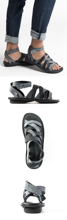 $315.00 | Trippen Nepal Sandal in Black | Santa Fe Dry Goods & Workshop | Trippen shoes are exception in design and committed to environmentally conscious production. Made from vegetable tanned leather and rubber soles for comfort. The sandal is perfect for spring and summer. Sold online and in-store in Workshop in Santa Fe, New Mexico.