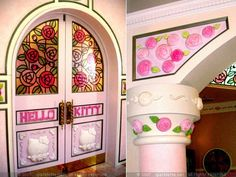 Door and wall in Hello Kitty's house