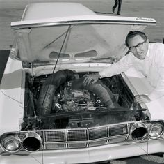 """Dyno Don"" Nicholson with his A/FX Comet. The Hi-Rise 427 was fed fresh air through those dryer-ducts attached to the inboard headlight openings. You could tell you were looking at one of these special Comets [and Thunderbolts] a mile away. Read more: http://blogs.hotrod.com/the-64-winternationals-began-the-birth-of-funny-cars-50-years-ago-106187.html#ixzz2sZEfxmXQ Follow us: @J O-Anne Murray Rod Magazine on Twitter 