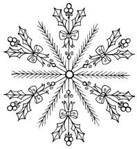 Embroidery Pattern Lilac Snowflake Christmas by polkaandbloom