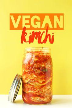 EASY 10-INGREDIENT Vegan KIMCHI! Crunchy, spicy, tangy, DELICIOUS! #vegan #glutenfree #recipe #kimchi #minimalistbaker