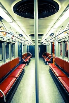 new york city subway. Funny, I kinda remember it being chock full of people - like sardines. :)