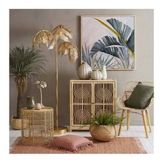 This gorgeous palm tree lamp has just arrived. We also have the smaller table lamp! Hit the link in our bio to find them online! Cane Furniture, Rattan Furniture, Recycled Furniture, Dump Furniture, Interior Styling, Interior Decorating, Interior Design, Tree Floor Lamp, Tree Lamp