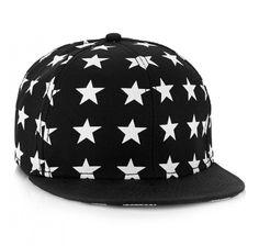 BLACK STARS AND STRIPES SNAPBACK CAP