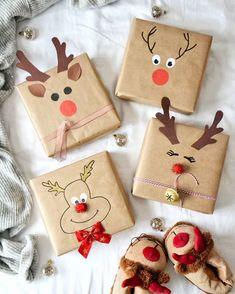 Recycled Christmas Gifts, Creative Christmas Gifts, Christmas Gift Wrapping, Holiday Crafts, Elegant Christmas, Christmas Fun, Beautiful Christmas, Xmas, Black Christmas