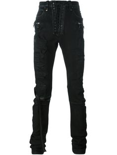 UNRAVEL distressed skinny trousers. #unravel #cloth #trousers