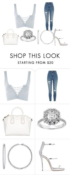 """""""Untitled #378"""" by youngandrich on Polyvore featuring Topshop, River Island, Givenchy and Giuseppe Zanotti"""