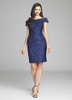 Portrait Collar Jacquard Dress