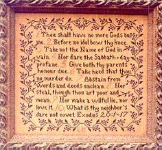Commandments - Cross Stitch Pattern
