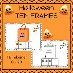 Halloween Counting 0 thru 20 Kindergarten | TpT