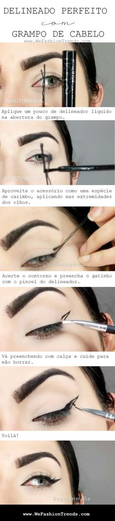 65 New Ideas Makeup Tutorial Eyeliner Liquid Liner Make Up How To Make Hair, Eye Make Up, Makeup Tutorial Eyeliner, Simple Eyeliner Tutorial, Make Up Tricks, Make Up Inspiration, Tips Belleza, Makeup Goals, Beauty Make Up