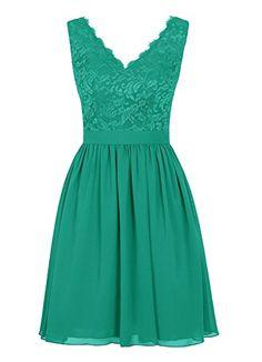 Angel Formal Dresses Women's V Neck Lace Dress Bridesmaid...