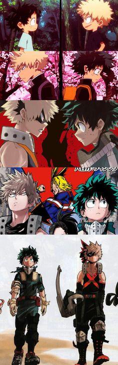 Boku no Hero Academia #BnHA - Midoriya Deku Izuku #Deku Katsuki Bakugou #Kachan