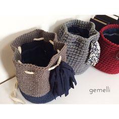 gemelli with Zpagetti ( Crochet Hobo Bag, Crochet Backpack, Crochet Purses, Crochet Twist, Crochet Yarn, Crochet Hooks, Recycled Yarn, Blanket Stitch, Denim Bag
