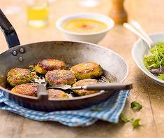 Galettes aux lentilles et sauce aux carottes