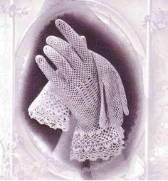 Vintage crochet patterns for ladies gloves