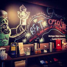 The Starbucks at school made this! #michiganstate #beatohiostate #gogreen #starbucks! #Padgram