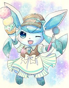 Glaceon has my spunk and personality.