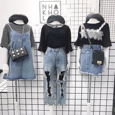 VISIT FOR MORE I want those ripped jeans ㅠㅠ The post I want those ripped jeans ㅠㅠ appeared first on Jeans. Korea Fashion, Asian Fashion, Look Fashion, Girl Fashion, Womens Fashion, Style Outfits, Cool Outfits, Fashion Outfits, Fashion Trends
