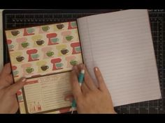 DIY Altering A Composition Notebook to Recipe Book Part 1 I love this idea have to try one Project Life, Homemade Recipe Books, Diy Recipe Book, Altered Composition Notebooks, Composition Notebook Journal, Recipe Scrapbook, Ideas Geniales, Book Projects, Craft Projects
