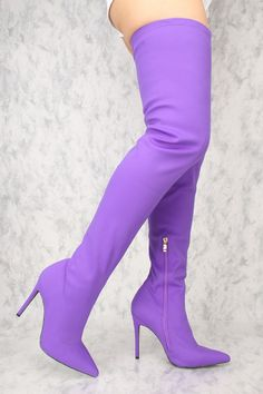 high heels – High Heels Daily Heels, stilettos and women's Shoes Thigh High Boots Heels, Hot High Heels, Womens High Heels, Heeled Boots, Purple Boots, Sexy Boots, Cute Shoes, Women's Shoes, Thigh Highs