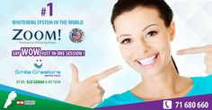 Say WOW just in ONE SESSION ! NUMBER ONE WHITENING SYSTEM IN THE WORLD – ZOOM PHILIPS USA.  Smile Creators Dental Clinic  Boulevard Sin El Fil - Main Road  https://www.facebook.com/SmileCreators/ http://youtube.com/smilecreatorslb www.smilecreators-lb.com #ISO 9001:2008 71-680660  #WeCreateYourHollywoodSmile #best_dentist #veneers #whitening