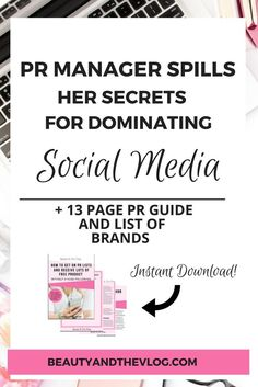 PR manager spills her secrets on social media for bloggers, Instagram, Facebook and YouTube creators. // Beauty and the Vlog << #socialmedia