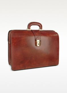 Pratesi Men's Leather Doctor Bag Briefcase w/Interior Lighting