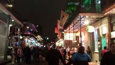 Bourbon Street at night New Orleans